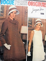 1960s CHIC Jacques Heim Dress and Coat Pattern VOGUE PARIS Original 1999 Day or Party Evening Bust 34 Vintage Sewing Pattern