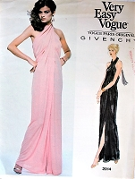 1970s GORGEOUS Givenchy Evening Gown Pattern VOGUE Paris Original 2014 Criss Cross Halter Dress, Pure Glamour, Disco Era Evening Dress Bust 36 Vintage Sewing Pattern FACTORY FOLDED