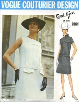 1960s SLEEK Galitzine Slim Dress Pattern VOGUE COUTURIER Design 2061 Day or Evening Size 8 Vintage Sewing Pattern UNCUT