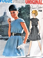 1960s MOD Pierre Cardin Bias Tent Dress Pattern VOGUE Paris Original 2128 Fab Style Details Bust 34 Vintage Sewing Pattern