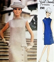 1960s ELEGANT Sybil Connolly Dress pattern VOGUE Couturier Design 2141 Lovely Day or After 5 Bust 36 Vintage Sewing Pattern FACTORY FOLDED