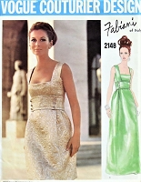 1960s RARE Fabiani Evening Gown Cocktail Dress Pattern VOGUE Couturier Design 2148 Stunning low Cut Neckline, Elegant Tucked A Line Skirt,Totally Glamrous Gown Bust 36 Vintage Sewing Pattern FACTORY FOLDED + Label