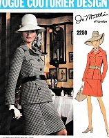 1960s FAB Slim Suit Pattern VOGUE Couturier Design 2250 Featuring  Jo Mattli Designer Bust 34 Vintage Sewing Pattern FACTORY FOLDED