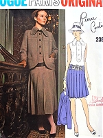 1970s FABULOUS Pierre Cardin Drop Waist Dress and Jacket Pattern VOGUE PARIS Original 2387 Midi or Regular Length Size 8 Vintage Sewing Pattern