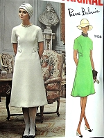 1970s BALMAIN CUTE Dress Pattern VOGUE Paris Original 2438 Two Lengths, Day or After 5 Bust 36 Vintage Sewing Pattern