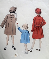1950s ADORABLE Girls Coat Pattern VOGUE 2563 Sweet Style Size 8 Vintage Childrens Sewing Pattern