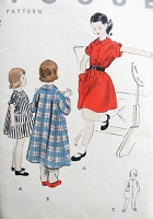 1950s SWEET Vintage Child's  One Piece Dress, Robe or Coat Vogue 2689 Chest 26 Fashion Sewing Pattern