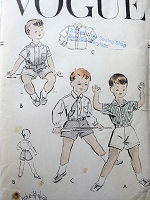 1950s Vintage CHARMING Childs Shirt and Shorts with Belt Vogue 2779 Sewing Pattern Chest 21