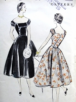 1950s LOVELY Evening Party Dress Pattern VOGUE 3592 Almost Off Shoulders, Back Wrap Cocktail Dress Bust 33 VERY Easy To Make Vintage Sewing Pattern FACTORY FOLDED