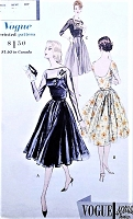 1950s BEAUTIFUL Evening Party Dress and Strapless Slip Pattern VOGUE Special Design 4061 Perfect For Sheers Bust 34 Vintage Sewing Pattern
