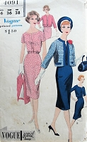 1960s CHIC Dress and Bolero Vogue 4091 Bust 36 Vintage Sewing Pattern