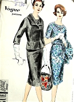 1950s STYLISH Slim Dress and Beautiful Fitted Jacket Pattern VOGUE Special Design 4124 Chic Day or After 5,Bust 36 Vintage Sewing Pattern FACTORY FOLDED
