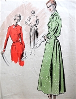1940s LOVELY Dress Pattern VOGUE Couturier Design 437 Day or Dinner Dress Beautiful Design details Bust 36 Vintage Sewing Pattern