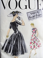 1950s ELEGANT Dress with Drop Waist Vogue Special Design 4700 Bust 32 Vintage Sewing Pattern