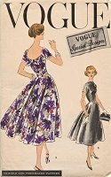 1950s GORGEOUS Evening Party Cocktail Dress Pattern VOGUE Special Design 4737 Figure Flattering Style Bust  34 Vintage Sewing Pattern