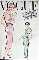 1950s STUNNING Evening Party Cocktail Dress Pattern VOGUE Special Design 4777 Easy Elegance Bust 32 Vintage Sewing Pattern FACTORY FOLDED