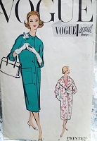1950s CHIC Slim Coat Pattern VOGUE Special Design 4871 Two Wonderful Styles Bust 32 Vintage Sewing Pattern