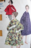 1950s GORGEOUS Flared Coat or Jacket Pattern VOGUE Special Design 4971 Luxury Full Flared Coats,3 Style Versions,Bust 34 Vintage Sewing Pattern