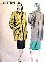 1940s CLASSIC Jacket Coat Pattern VOGUE 5084 Bust 32 Vintage Sewing Pattern FACTORY FOLDED