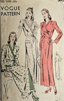 CLASSIC House Coat or Robe Pattern VOGUE 5090 Slim Classy  Princesse Fitted  Back Robe Bust 32-34  Easy to Make Vintage Sewing Pattern