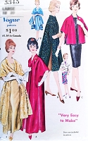ELEGANT Very Easy To Make Stole Coat Pattern VOGUE 5345 Three Lovely Styles and Lengths  Day or Evening Size Small Vintage Sewing Pattern UNCUT