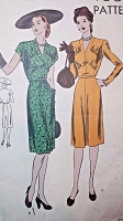 1940s LOVELY Film Noir Style Dress Pattern VOGUE 5426 Beautifully Gathered Bodice Day or After 5 Dress Bust 32 Vintage Sewing Pattern FACTORY FOLDED