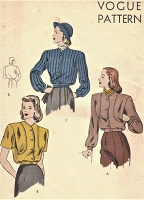 1940s BOMBER Jacket Pattern VOGUE 5610 Three Style Versions Bust 30 EASY To Make Jackets Vintage Sewing Pattern
