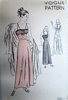 1940s GLAM Femme Fatale Nightgown Pattern VOGUE 5682 Full Length Shirred Nightgown Strappy Back Bust 32 Vintage Sewing Pattern FACTORY FOLDED