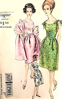 1960s CLASSY Evening Cocktail Party Dress, Petticoat and Stole Pattern VOGUE Special Design 5767 Three Versions Bust 36 Vintage Sewing Pattern