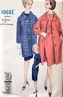 1960s STYLISH Slim Dress and Coat Pattern VOGUE Special Design 5786 Elegant Straight Coat In Two Lengths Bust 32 Vintage Sewing Pattern FACTORY FOLDED