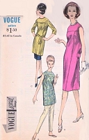 1960s STYLISH Slim Dress,Tunic and Skinny Pants Pattern VOGUE 5868 Great Weekend Travel Wear Bust 34 Vintage Sewing Pattern FACTORY FOLDED