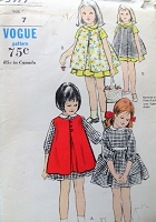 1960s CUTE Girls Dress and Pinafore Pattern VOGUE 5977 Sweet Styles Size 7 Childrens Vintage Sewing pattern