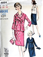 1960s ELEGANT Suit and Blouse Pattern VOGUE Special Design 6024 Beautiful Style Day or Evening Bust 32 Vintage Sewing Pattern FACTORY FOLDED