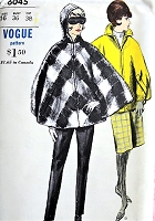 1960s CLASSY Co Ordinates Pattern VOGUE 6045 Circular Cape Coat With/Without Hood, Slim Pants, Slim Skirt, Great Weekend Wardrobe Bust 36 Vintage Sewing Pattern FACTORY FOLDED