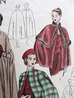 1940s STYLISH Cape Coats Pattern VOGUE 6317 Three Elegant Lengths and Style Versions Timeless Design Medium Size Vintage Sewing Pattern FACTORY FOLDED