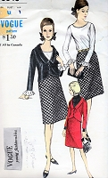 1960s CLASSY Suit Pattern VOGUE 6348 Fitted Jacket, A Line Skirt,Ruffled Cuffs Blouse Bust 36 Vintage Sewing Pattern FACTORY FOLDED