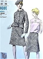 1960s MOD Suit,Blouse and Beret Hat Pattern VOGUE SPECIAL DESIGN 6670 Stylish  Day or After 5 Bust 34 Vintage Sewing Pattern