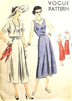 Late 40s BEAUTIFUL Sundress and Bolero Pattern VOGUE 6826 Sweetheart Neckline, Strappy Back Dress Bust 34 Vintage Sewing Pattern