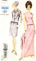 1960s ELEGANT Suit and Overblouse Pattern VOGUE Special Design 6889 Chic Day or Evening Length Bust 32 Vintage Sewing Pattern FACTORY FOLDED