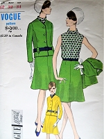 MOD 1960s Suit and Blouse Pattern VOGUE Special Design 7051 Classy Design Bust 32 Vintage Sewing Pattern FACTORY FOLDED