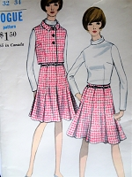 1960s STYLISH Jacket,Skirt and Blouse Pattern VOGUE 7055 Lovely Skirt Design Bust 32 Vintage Sewing Pattern FACTORY FOLDED