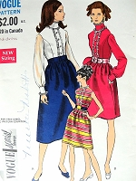 1960s ROMANTIC Dress Pattern VOGUE Special Design 7370 Three Lovely Versions Day or Evening Party Bust 32 Vintage Sewing Pattern
