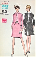 1960s MOD Suit and Blouse Pattern VOGUE 7532 CLASSY Cutaway Jacket  Bust 38 Vintage Sewing Pattern UNCUT