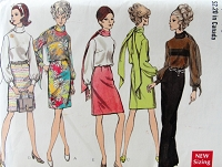 1960s MOD Daytime or Evening  Dress and Scarf Pattern VOGUE Special Design 7548 Beautiful Styles Bust 34 Vintage Sewing Pattern FACTORY FOLDED