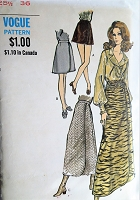 1960s MOD Skirt Pattern VOGUE 7696 Classy 4 Lengths Mock Front Wrap Skirts Day Evening Skirts Waist Size 26 Vintage Sewing Pattern FACTORY FOLDED