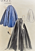 1950s BEAUTIFUL Evening or Day Full Skirt Pattern VOGUE 7764 Gorgeous Design Waist 26 Vintage Sewing Pattern