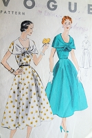1950s LOVELY Dress Pattern VOGUE 7979 Day or Party Full Skirted Dress Easy To Make Bust 34 Vintage Sewing Pattern