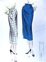 1950S Slim Skirt Pattern VINTAGE CLASSY VOGUE 8052 Vintage Sewing Pattern