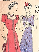 1930s PRETTY Pinafore Dress in Two Styles or Tunic With Shorts Vogue 8246 Vintage Sewing Pattern Bust 34