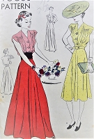 1930s BEAUTIFUL Day or Evening Length Dress Pattern VOGUE 8379 Gorgeous Design Bust 32 Easy To Make Vintage Sewing Pattern